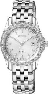 Японские наручные женские часы Citizen EW1901-58A. Коллекция Eco-Drive