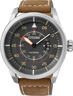 Японские наручные мужские часы Citizen AW1360-12H. Коллекция Eco-Drive