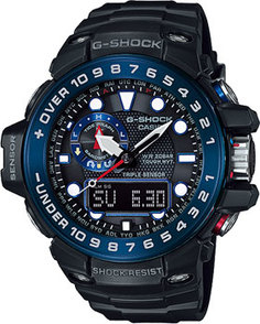 Японские наручные мужские часы Casio GWN-1000B-1B. Коллекция G-Shock