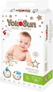 Подгузники YokoSun Premium L (9-13 кг) 54 шт.