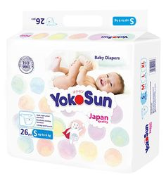 Подгузники YokoSun размер S (до 6 кг) 26 шт.
