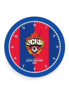 Часы настенные с эмблемой красно-синие ПФК ЦСКА