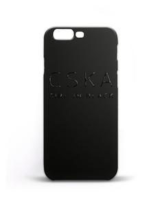 """Клип-кейс """"CSKA GIRL IN BLACK""""для iPhone 7 Plus, цвет чёрный ПФК ЦСКА"""