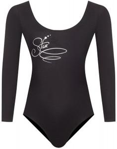 Купальник гимнастический с длинным рукавом для девочек Demix, размер 110