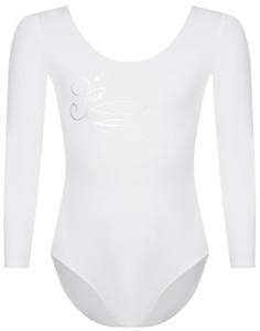Купальник гимнастический с длинным рукавом для девочек Demix, размер 122