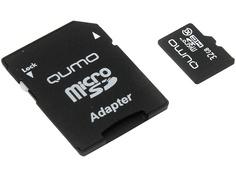 Карта памяти 32Gb - Qumo MicroSDHC Сlass 10 QM32GMICSDHC10 с адаптером SD