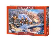Пазл Castorland Зимний коттедж B-53278