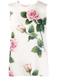 Dolce & Gabbana блузка с принтом Tropical Rose