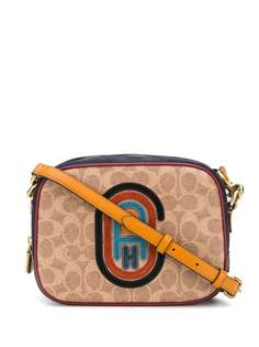 Coach каркасная сумка с нашивкой-логотипом