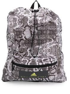 adidas by Stella McCartney рюкзак с затяжкой на шнурке и змеиным принтом
