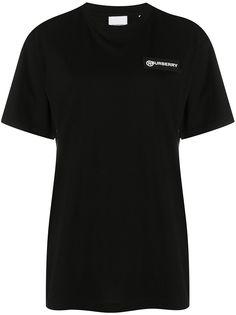 Burberry футболка со вставкой в клетку Vintage Check