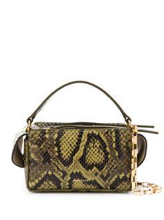 Wandler сумка-тоут Yara Box с тиснением под кожу змеи