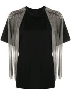 Christopher Kane футболка с цепочной бахромой