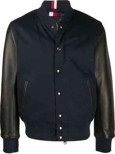 Tommy Hilfiger куртка-бомбер с контрастными рукавами