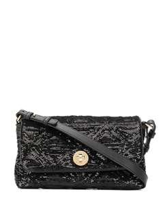 Emporio Armani сумка на плечо с вышивкой пайетками и логотипом