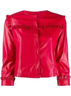 LIU JO куртка без воротника с оборками