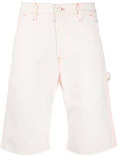 MSGM джинсовые шорты-бермуды с контрастной строчкой
