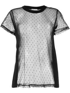 RedValentino футболка с сетчатой вставкой