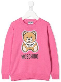 Moschino Kids толстовка с длинными рукавами и логотипом