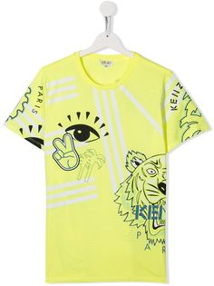 Kenzo Kids футболка с принтом Tiger