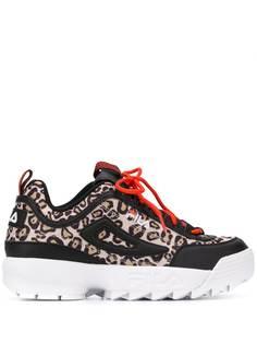 Fila кроссовки с леопардовым принтом