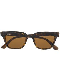Ray-Ban солнцезащитные очки в прямоугольной оправе черепаховой расцветки