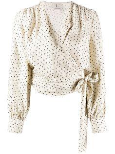 LAutre Chose блузка с запахом и принтом