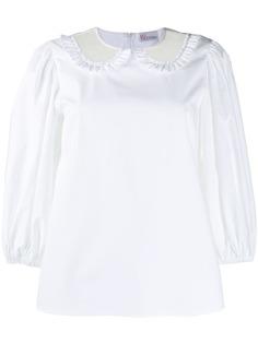 RedValentino блузка с прозрачным воротником