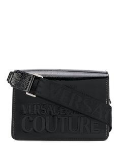 Versace Jeans Couture лакированная сумка через плечо с логотипом