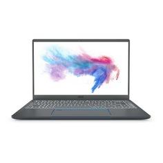 """Ноутбук MSI Prestige 14 A10SC-059RU, 14"""", IPS, Intel Core i5 10210U 1.6ГГц, 16Гб, 512Гб SSD, nVidia GeForce GTX 1650 MAX Q - 4096 Мб, Windows 10, 9S7-14C112-059, серый"""