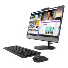 "Моноблок LENOVO V530-22ICB, 21.5"", Intel Pentium Gold G5400T, 4Гб, 128Гб SSD, Intel UHD Graphics 610, DVD-RW, Windows 10 Professional, черный [10us00ddru]"