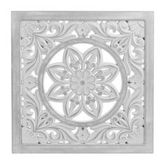Декор настенный shorn (to4rooms) белый 39x39x2 см.