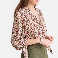 Блузка с V-образным вырезом и рисунком SEE U Soon
