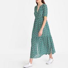 Платье длинное с рисунком SEE U Soon