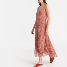 Платье на тонких бретелях с цветочным рисунком SEE U Soon