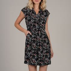 Платье короткое с цветочным рисунком и вырезом с запахом, без рукавов Molly Bracken
