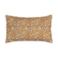 Чехол на подушку-валик с вышивкой в стиле Кантха, Normia Am.Pm.