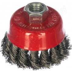 Щетка-крацовка скрученная проволока, 65 мм, м14 ремоколор 45-1-201