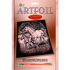 Гравюра Sequin Art «Лошади» медь