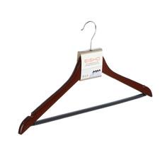 Вешалка Eisho деревянная с плечиками и перекладиной для брюк цвет орех