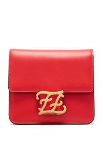 Красная сумка из змеиной кожи Karligraphy Fendi