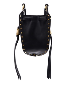 Черная кожаная сумка Radji Isabel Marant