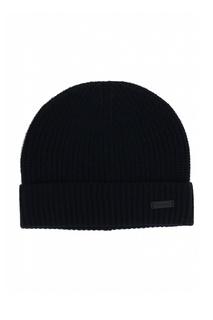 Комплект из шапки и шарфа черного цвета Strellson