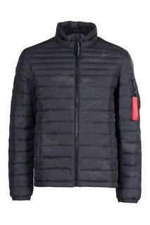 Черная куртка с камуфляжным принтом Strellson