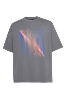 Серая футболка с оптическим принтом Marcelo Burlon