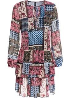 Короткие платья Платье из сетчатой ткани в стиле петчворк Bonprix