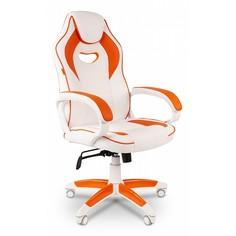 Кресло игровое Chairman Game 16 белый/оранжевый