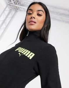 Черная спортивная куртка на молнии Puma-Черный