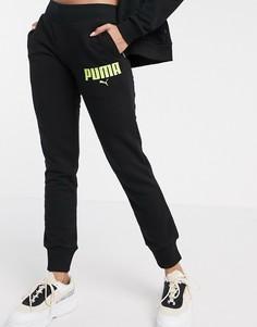 Черные джоггеры слим Puma-Черный