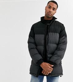 Черная дутая куртка Duke tall-Черный